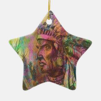 Color indio del clipart del nativo americano adorno de cerámica en forma de estrella