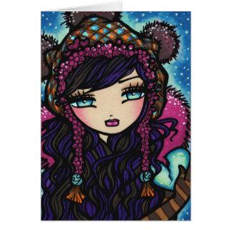 "COLOR INSIDE ""Heart of Ice"" Fairy Card"