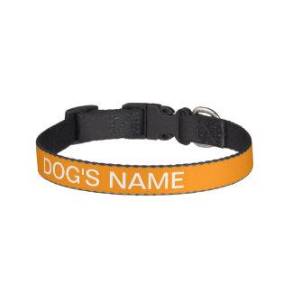 Color intrépido anaranjado oscuro de encargo hecho collar para perro