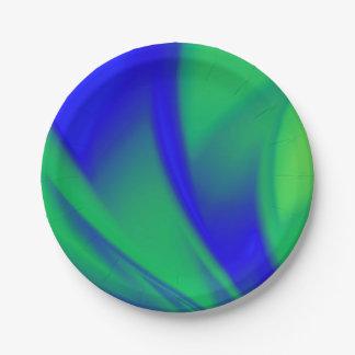 Color inusual combinado plato de papel de 7 pulgadas