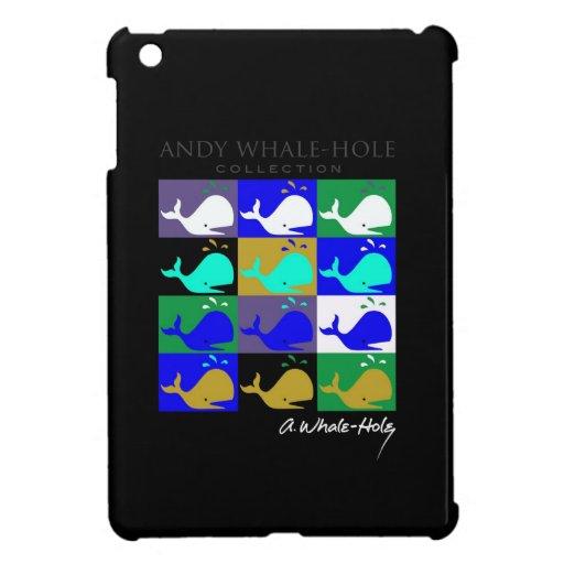 Color invertido el panel de Hole™ 12 de la ballena iPad Mini Cárcasas