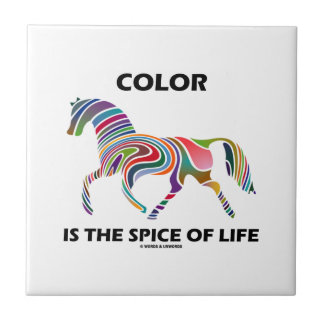 Color Is The Spice Of Life (Horse Color Swirl) Ceramic Tile