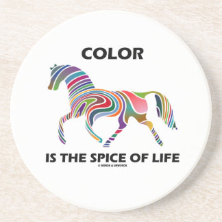 Color Is The Spice Of Life (Horse Color Swirl) Coasters