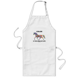 Color Is The Spice Of Life (Horse Color Swirl) Long Apron