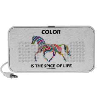 Color Is The Spice Of Life (Horse Color Swirl) Travelling Speaker