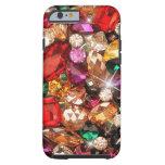 Color Jeweled de las gemas de la chispa de las Funda De iPhone 6 Tough