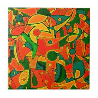 Color Jungle Red Inspiration Ceramic Tile