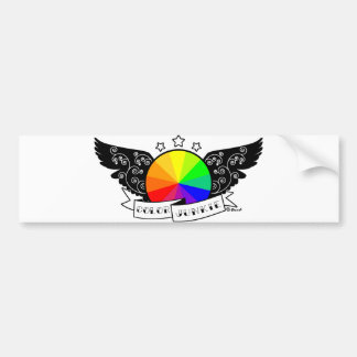 Color Junkie Bumper Sticker
