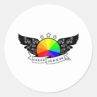 Color Junkie Classic Round Sticker