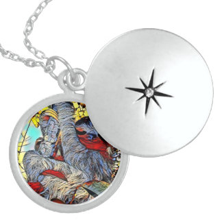 Color Kick - Sloth Sterling Silver Necklace