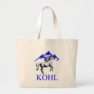 Color Kohl Colt with Mountains and Text Tote Bag