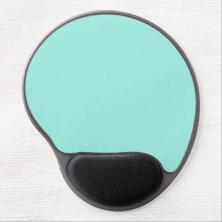 Color ligero de la moda del verde azul de la aguam alfombrillas de raton con gel