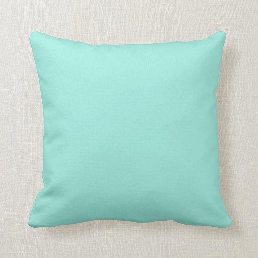 Color ligero de la moda del verde azul de la almohadas