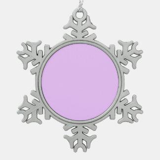Color ligero de Lavendar Adorno De Peltre En Forma De Copo De Nieve