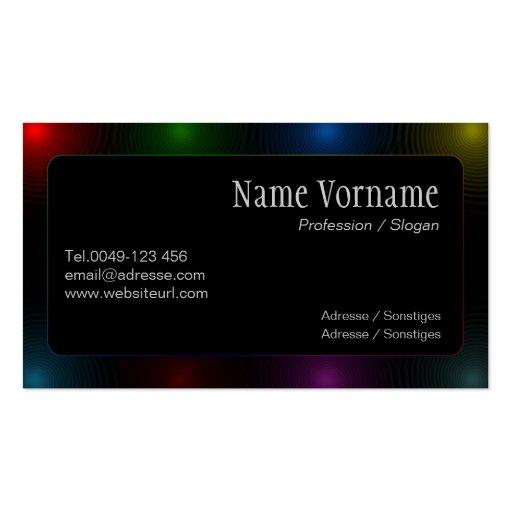 color lights tarjetas de visita
