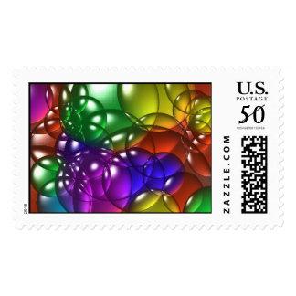 color like bubbles postage