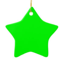 color lime ceramic ornament