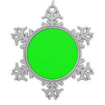 color lime snowflake pewter christmas ornament