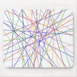 Color lines variety background mouse pad