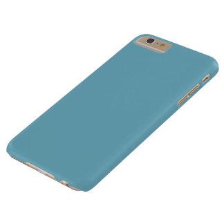 Color llano del azul del Beatnik Funda De iPhone 6 Plus Barely There