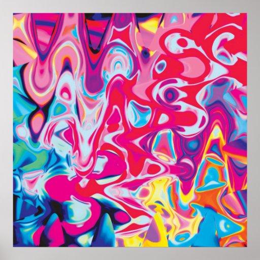 Color loco póster