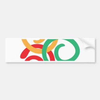 Color logo bumper sticker