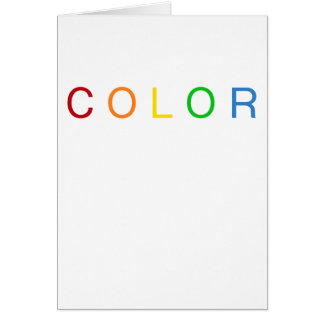 Color Lovers Typographical Rainbow Spectrum Card