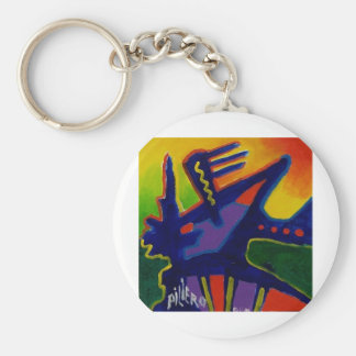 Color Magic  n by Piliero Basic Round Button Keychain
