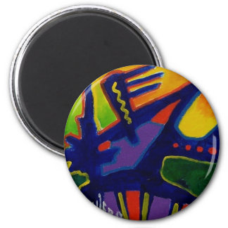 Color Magic  n by Piliero 2 Inch Round Magnet