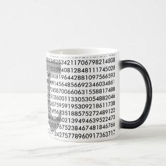 Color mágico Morphing la taza de café del pi