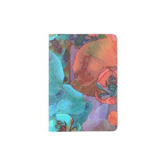 Color magnífico de las floraciones complementarias porta pasaporte