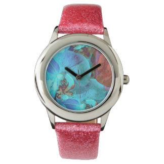 Color magnífico de las floraciones complementarias reloj