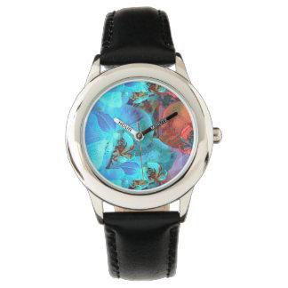 Color magnífico de las floraciones complementarias relojes de pulsera