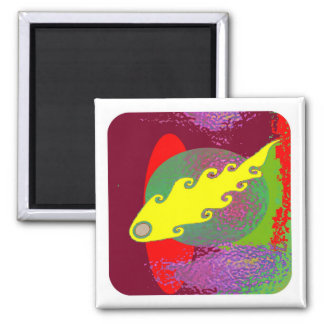 Color Mania : Inflamed in Romance 2 Inch Square Magnet