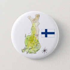 Color Map Of Finland Drawing Badge Pin Button at Zazzle