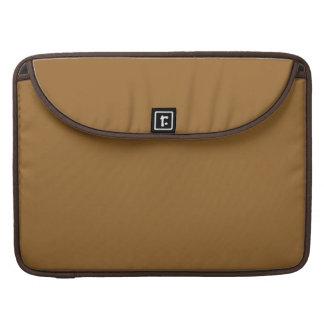 color marrón simple fundas para macbooks