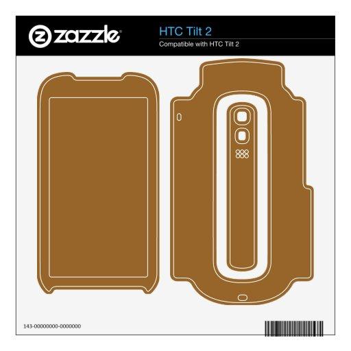color marrón simple skins para HTC tilt 2
