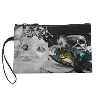 Color mask & Black + White Wristlet Purses