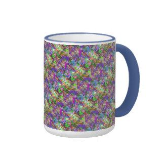 Color Maze Sissy Girl Camo Colorful Girly Abstract Ringer Mug