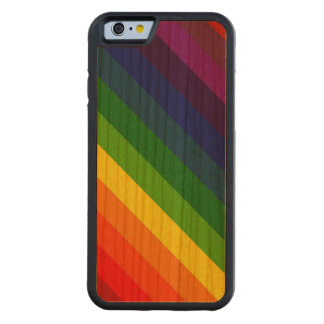 COLOR ME A RAINBOW (Striped design) ~ Carved® Cherry iPhone 6 Bumper Case