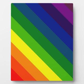COLOR ME A RAINBOW Striped design Plaque