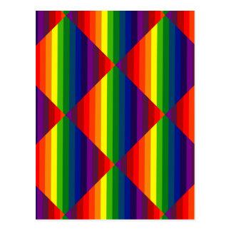 COLOR ME A RAINBOW (Striped design) ~ Postcard