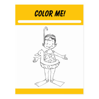 Color Me Activity Card Post Card