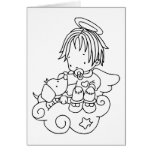 Color Me Angel Baby and Puppy Greeting Cards
