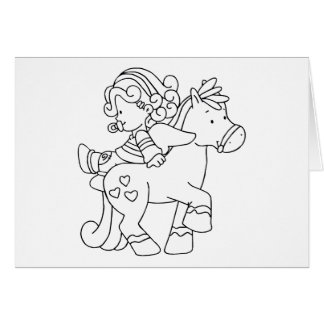 Color Me Angel Baby Backward Ride Stationery Note Card