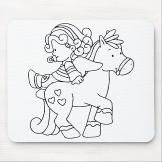 Color Me Angel Baby Backward Ride Mouse Pad