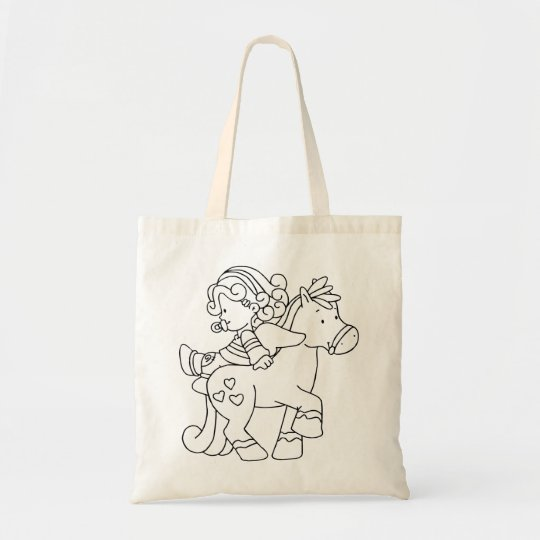 Color Me Angel Baby Backward Ride Tote Bag