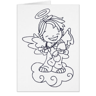 Color Me Angel Baby Joyful Greeting Card