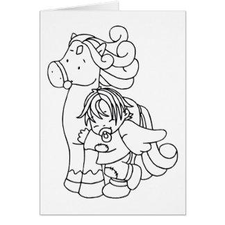 Color Me Angel Baby Love Me Greeting Card