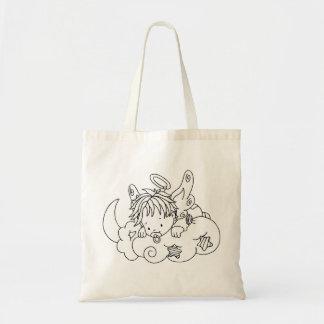 Color Me Angel Baby on Cloud Budget Tote Bag